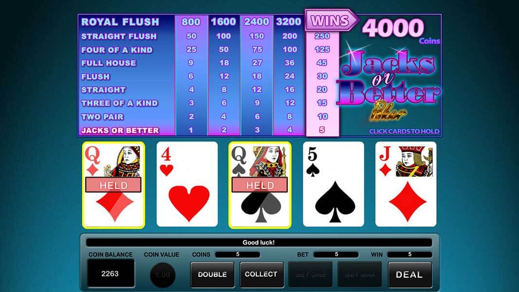 Online Video Poker For Real Money at Lucky Creek