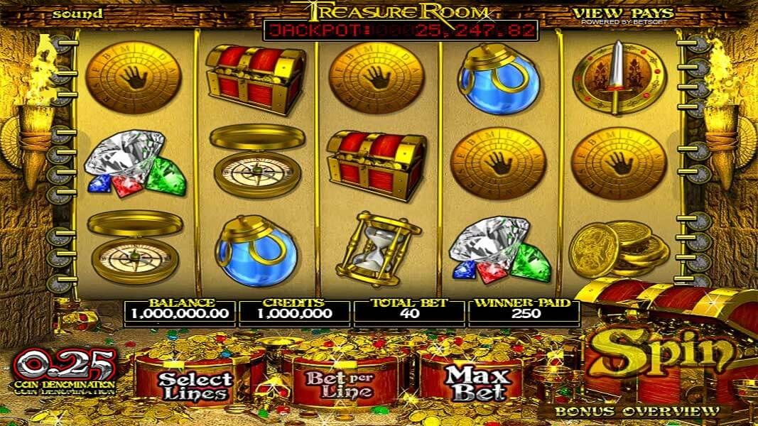 Treasure Room Video slot certainly lives up to its name!